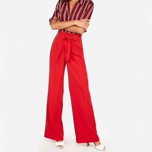 NWT Express High Rise and Wide Leg Red Pants